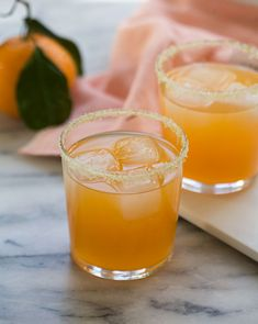 Satsuma Orange Margarita recipe. A little sunshine when we need it most.