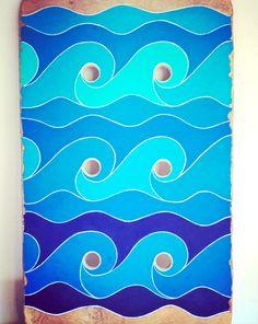 Driftwood Art Wave Surf Treibholz Bild Welle Surfen Strandgut ~ Kunst von KYMA www.kymastyle.com bei DaWanda