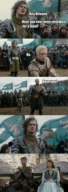 Good one Brienne…