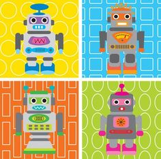 Prints for robot nursery... This reminded me of you @Nicole Novembrino Novembrino Lim