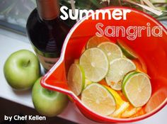 Last weekend we tried Chef Kellen's sangria recipe and let me tell you, it was fruity-licious! His recipe for both, red and white sangria is below. Let us know how you like it if you try it at home!