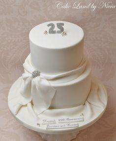 Image result for 25th wedding anniversary cake