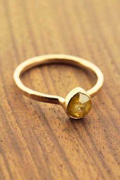 Melissa Joy Manning Yellow Pear Shaped Diamond