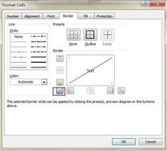 Add Diagonal Line for a Cell