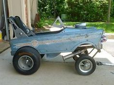 Gasser Pedal Car Wagon Hot Rod Stroller Rat Rod Chevy on PopScreen