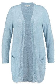 Long cardigan | Fluffy | Blue | Fashion | Plussize fashion | Lang vest