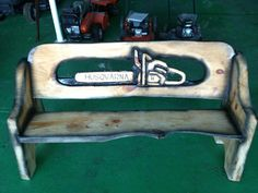 Customized Husqvarna bench posted by Cameron Duncan.