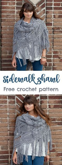 Free crochet pattern for this shawl plus full step by step video tutorial.