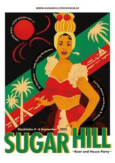 Swing dance party in Stockholm with a vintage vibe! Design Frida Häggström Gerdt