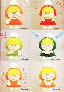 TEJIDOS Y MANUALIDADES: Moldes de muñecos de fieltro o paño lenci
