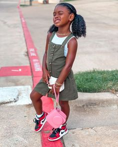 Cute Kids Fashion, Little Girl Fashion, Toddler Fashion, Little Girl Swag, Black Little Girls, Cute Black Kids, Beautiful Black Babies, Cute Baby Girl Outfits, Toddler Outfits