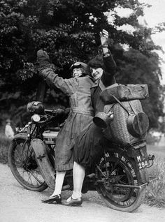 Motorbikes, Motorcycle women, Motorcycle, Vintage biker, Motorcycle girl, Vintage motorcycle - Cool Girls Riding Their Motorbikes Vintage PreWar Photos Of Women And Their Rides - #Motorbikes