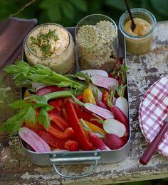 Meerrettich-Käsecreme mit Gemüsesticks Rezept - [ESSEN UND TRINKEN]