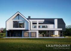Hausprojekt: LK&1505 - ExklusivHAUS-Projekt: Leben auf höchstem Niveau Residential Architecture, Modern Architecture, Woodland House, Modern Barn House, Modern Villa Design, House Extension Design, Modern Farmhouse Exterior, Architect House, Facade House