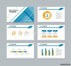 Vector: abstract business template presentation slide  background design