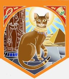 The Abyssinian cat is reputed to be descended from the ancient Egyptian cat. The goddess Bast is represented here, a goddess of pleasure and abundance. This Spirit helper is resourceful, strong and fearless. Cats represent magic, courage and confidence, and encourage agility of the body and mind.