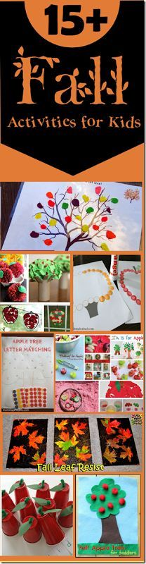 15+ Fall activiites for Kids - so many really fun, creative, and unique fall crafts for kids, kids activities for fall perfect for preschool, prek, kindergarten, and more