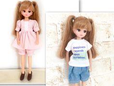 人形服の型紙の作り方と縫い方まとめ : リカちゃん服ハンドメイド りんごぽんのおうち Diy Toys, Sewing Patterns, Sewing Ideas, My Girl, Sewing Crafts, Doll Clothes, Diy And Crafts, Kawaii, Dolls