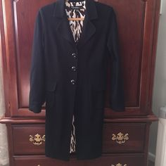 Cache Contour Collection. Black driving coat m Cache contour collection this is a black lines driving coat or long blazer big black buttons fitted size medium will fit size 6 to 8 perfect over address heavy material but not a coat worn less than a handful of times. In very good condition Cache Jackets & Coats
