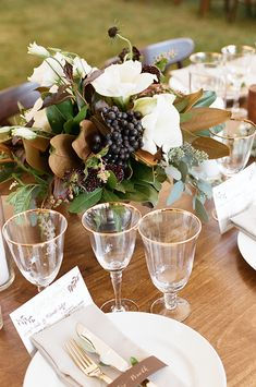 Fall wedding #tablescape from Sarah Jane Winter