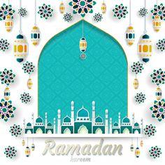 Ramadan kareem of invitations design Pre. Wallpaper Ramadhan, Ramadan Cards, Ramadan Greetings, Diorama Kids, Ramadan Background, Invitation Design, Invitations, Allah Wallpaper, Fashion Banner