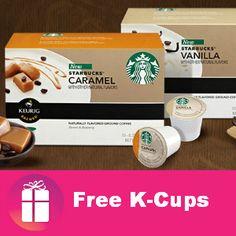 Would you like #FREE Starbucks Caramel & Vanilla K-Cups? HERE YOU GO ---> http://freebies4mom.com/kstarbucks/