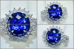 Sparkling Luxury Kasmir Blue SAFIR Sri Lanka - SPC 155 + + Sertifikat & MEMO