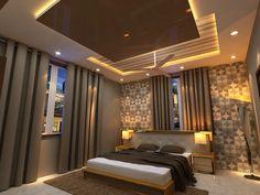 Bad Room Design, Modern Bedroom Design, Bedroom False Ceiling Design, Awesome Bedrooms, Stylish Bedroom Design, Bedroom Lamps Design, Modern Bedroom, Ceiling Design Living Room, Interior Design Bedroom