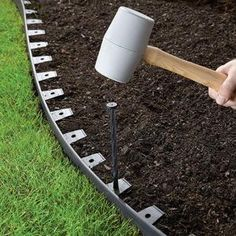ProFLex No-Dig 40 ft. Landscape Edging - The Home Depot (and buy . ProFLex No-Dig 40 ft. Landscape Edging – The Home Depot (and buy … ProFLex No-Dig 40 ft. Landscape Edging – The Home Depot (and buy gutter nails for extra spikes)