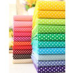 Купить товар20 цвет 50 * 50 многоцветный горошек хлопчатобумажная ткань тильда ткани лоскутное тканей домашнего текстиля тканые telas tecido в категории Тканьна AliExpress.               Материал: хлопок                       Упаковка:                      1 лот = 20 шт. размер: 1 шт. =