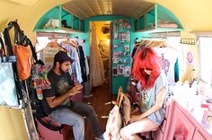 I like the idea of buying an old van to travel to shows doing little pop-up vintage shops!