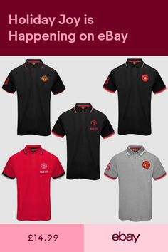 05a7d93db4a Manchester United FC Official Football Gift Mens Crest Polo Shirt