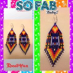 Beaded Earrings Just Fab SALE  by Bead4Fun on Etsy