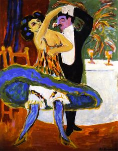 Varieté, Englisches Tanzpaar (Ernst Ludwig Kirchner) Pull up your bloomers!