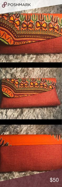 Dashiki clutch purse Handmade dashiki clutch straw purse Bags Clutches & Wristlets