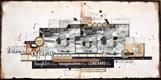 Kaisercraft Products : Story Book Collection KC Mar - SB - Explore Layout 1