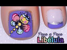 Toe Nail Art, Toe Nails, Acrylic Nails, Pretty Nails, Pedicure, Nail Designs, Nail Polish, Cami, Youtube