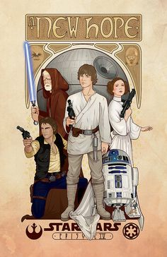 Star Wars A New Hope poster  11x17  limited by cryssycheung, $25.00