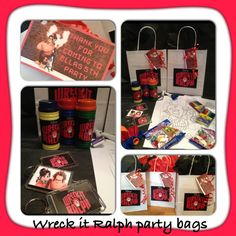 Wreck it Ralph party bags from party bags for kids - 07799 434226