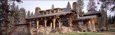 Majestic Log and Rock home from Montana/Idaho Log homes,  Victor, Montana (my hometown in Montana!)