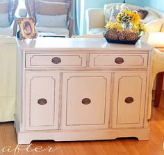 how to glaze furniture...i like this tut the best