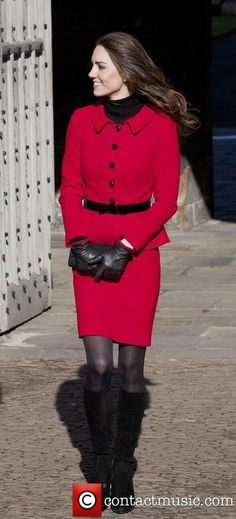 HRH...lovely in red and black ..love her smile!