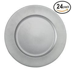 Fantastic:)™ 24 PCS Round 13'x13' Colorful Plain Charger Plates with Dusting Finish 24 Pcs/set (Silver) ** See this awesome image  (This is an amazon affiliate link. I may earn commission from it)