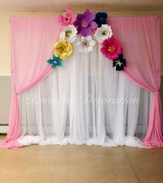 Paper Flower Backdrop, Paper Flowers, Cradle Ceremony, Wedding Mehndi Designs, Baby Shawer, Fancy Nancy, Baby Shower Princess, Ideas Para Fiestas, Homesteads