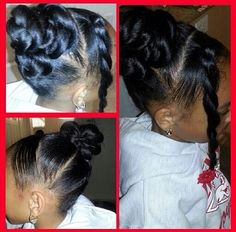 Little girls hairstyle. Updo for girls