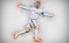 HD wallpaper: Soccer, Sergio Ramos, Real Madrid C.F., Spanish
