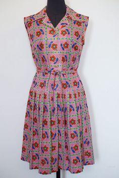 RARE Vintage ATA Israel Dress, 60s-70s, MARY QUANT-inspire Daisy, Size 40 – NEW! #ATA