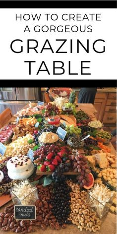 - Baby Care # Be the hit of the party! Create a beautiful, rustic grazing table for your wedding or special event Guests will be wowed as they graze on the display! With these six easy steps, anyone can arrange a gorgeous wedding grazing table Charcuterie Recipes, Charcuterie Platter, Charcuterie And Cheese Board, Cheese Boards, Charcuterie Wedding, Cheese Board Display, Charcuterie Display, Antipasto, Party Desserts