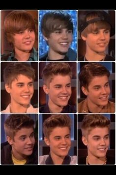 time flies.. *sigh* justin throughout the years :') give me a minute will i go cry in a corner(':