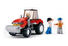 Sluban fra SBDanmark er et godt alternativ til de dyre klodser og er fuld ud kompatibel med mærker som f.eks Lego Traktor http://www.sbdanmark.dk/index.php/town/tractor-m38-b0556